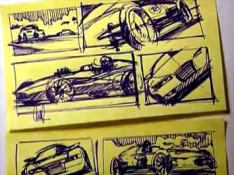 Post-it-car-sketches