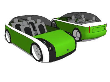 Electric Concept Car free 3D model