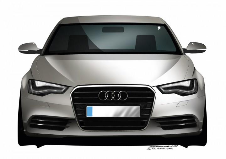 Audi A Design Sketches Car Body Design - Audi car vector