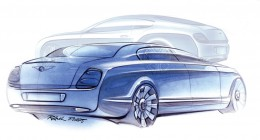 Bentley Continental Flying Spur Design Sketches