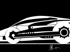 Black-and-White-Car-Sketch