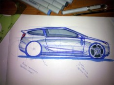 Car-Side-view-sketch
