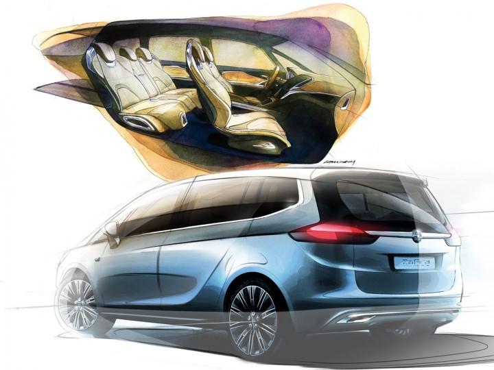 Opel Zafira Tourer Concept Car Body Design
