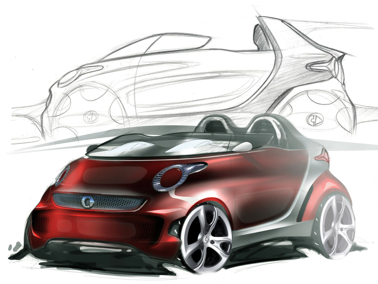 Smart Forspeed Concept Design Sketch on Volvo S60 Sketch
