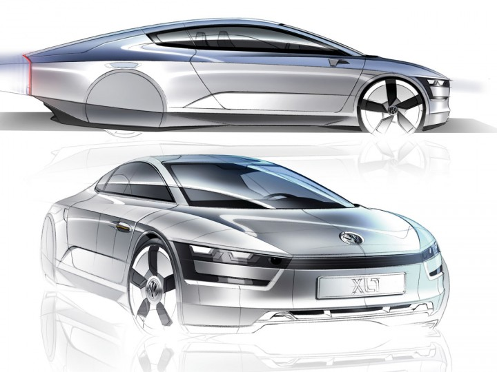 Line Art Xl 2011 : Volkswagen xl concept car body design