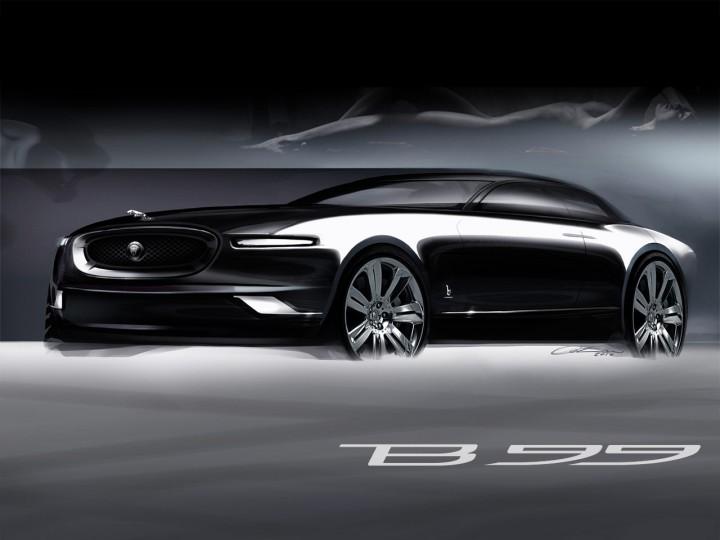 Bertone Jaguar B99 Concept Design Sketches Car Body Design