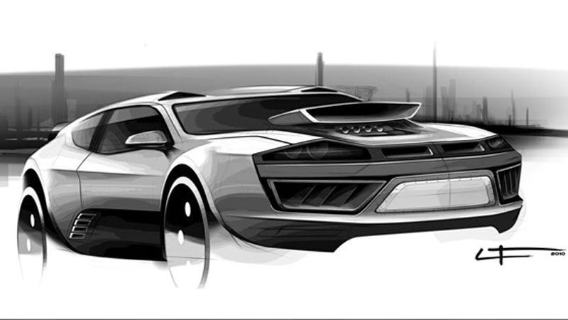 Ford Mad Max Concept Sketch by LT