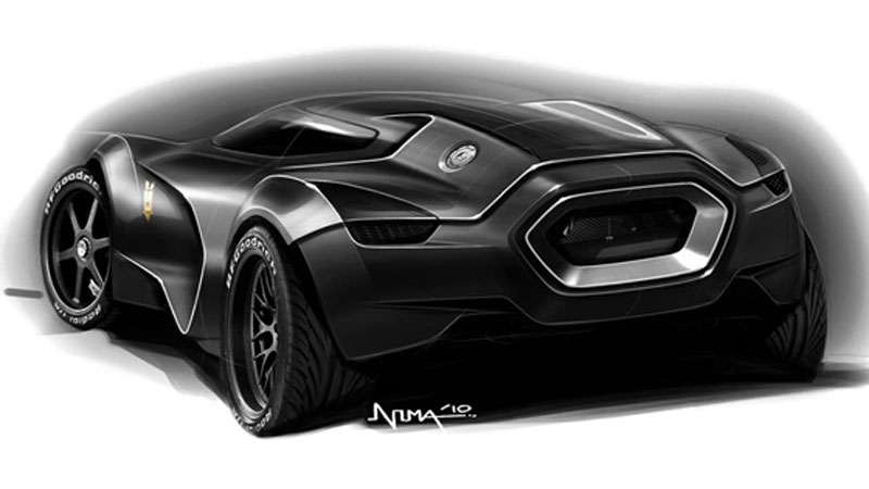 Ford Mad Max Concept Sketch by Nima Nourian
