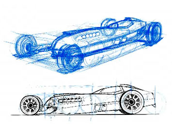 how to draw concept cars