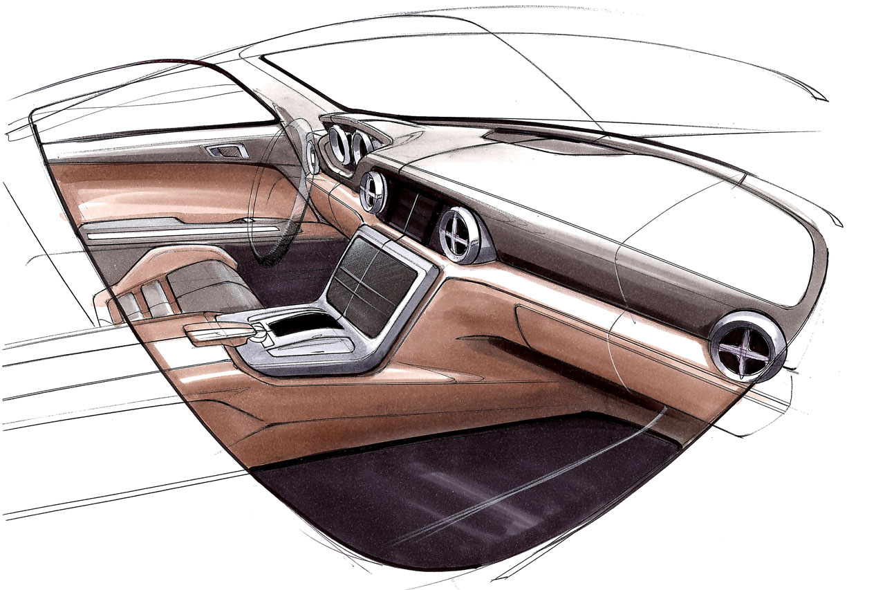 mercedes benz slk interior design sketch car body design. Black Bedroom Furniture Sets. Home Design Ideas