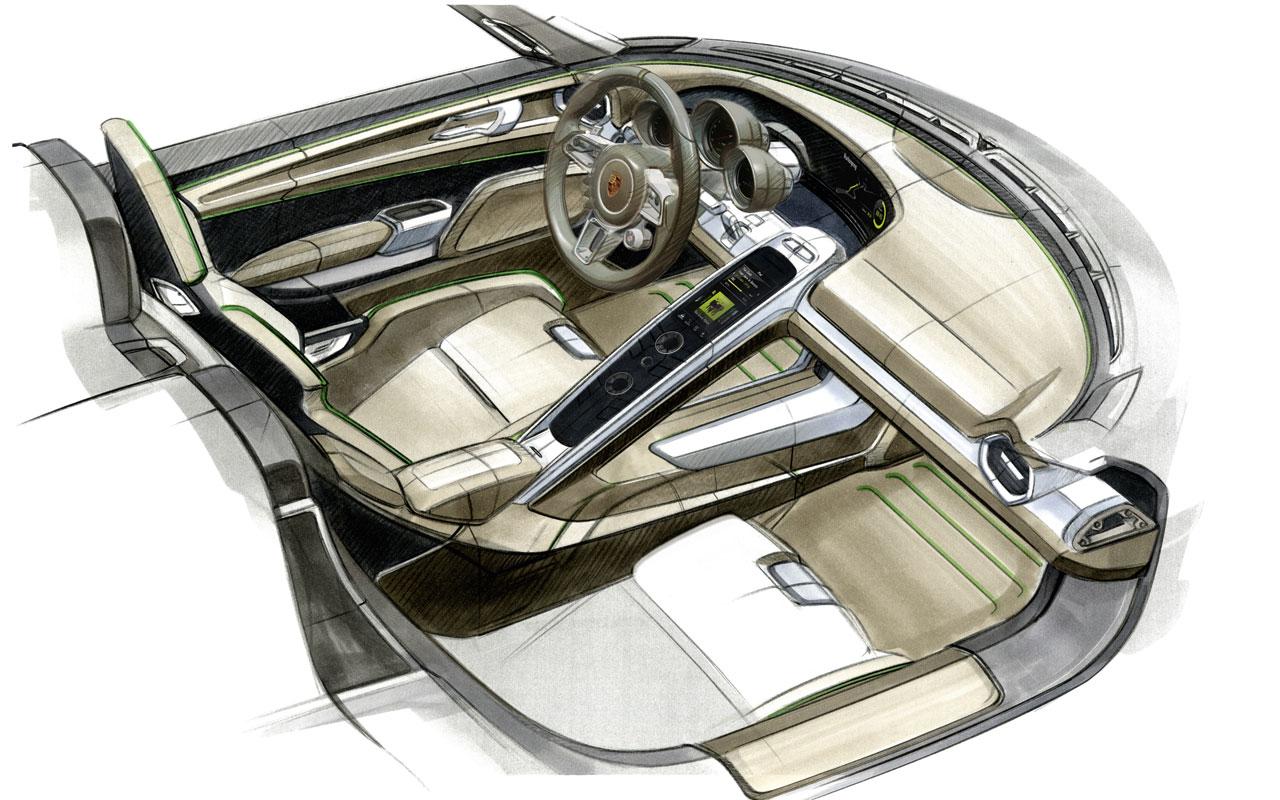 Concept cars dise o puro 90 sketchs taringa - Porsche 918 interior ...
