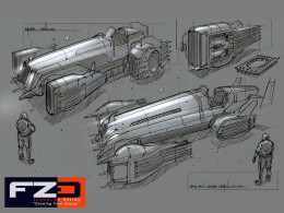 Vehicle Design Sketch by Feng Zhu