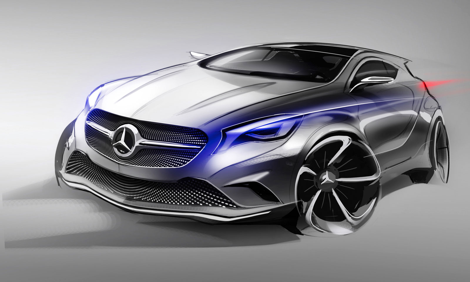 mercedes benz concept a class design sketch car body design. Black Bedroom Furniture Sets. Home Design Ideas