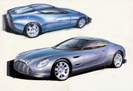 2002 Aston Martin DB7 Zagato Design Sketches