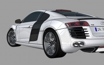 Audi R8 3D model screenshot