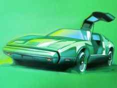 Bricklin-SV1-Sketch-on-Canson