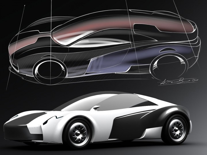 Pagani designer envisions electric sportscar of the future