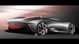 Jaguar C-X75 Concept Design Sketch