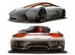 Lamborghini Indomable Concept Design Sketches