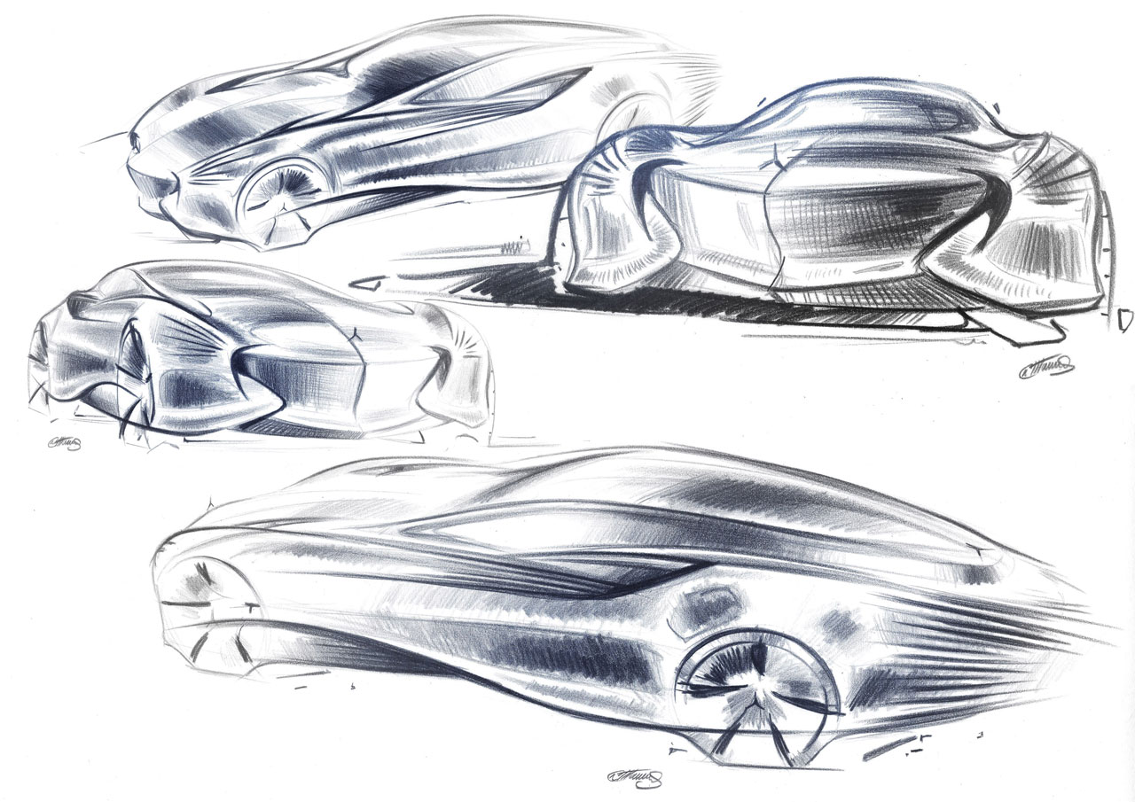 Car body design sketch images for Coupe architecture