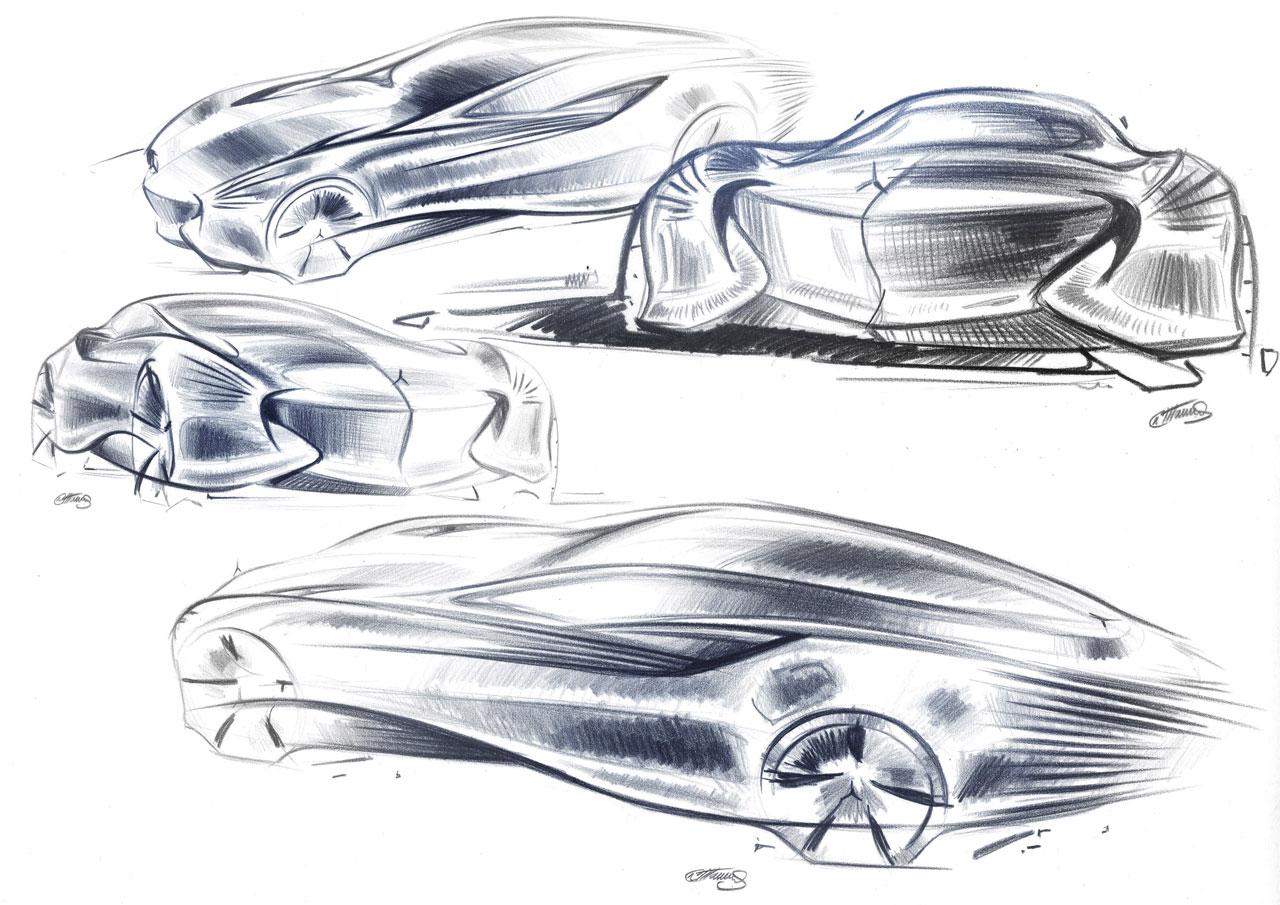 Car body design sketch images for Mercedes benz design