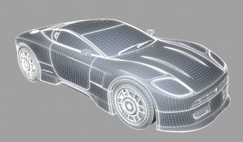 Pininfarina Coupe Concept CAD Wireframe