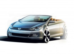 Volkswagen Golf Cabriolet Design Sketch