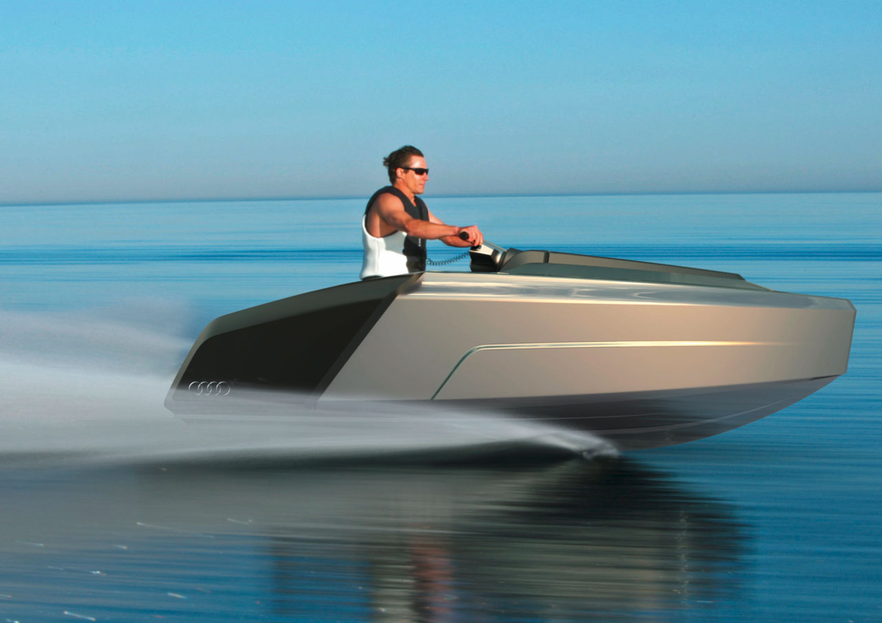 Audi Trimaran Concept Jet Ski Car Body Design