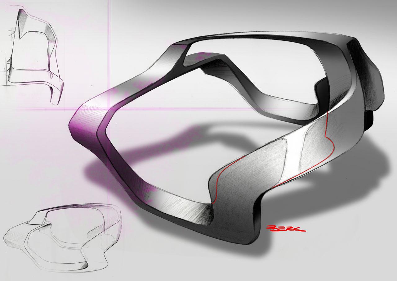 Mercedes Benz Unimog Concept Frame Design Sketch