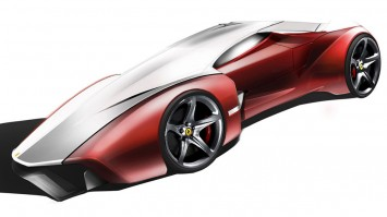 Ferrari Ethesian Design Sketch