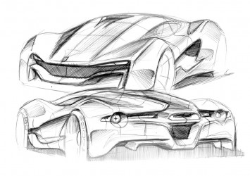Ferrari Xezri design sketches