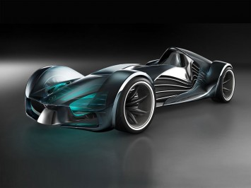 Concept is a design study of a futuristic racing car for the year 2030    Year 2030 Cars
