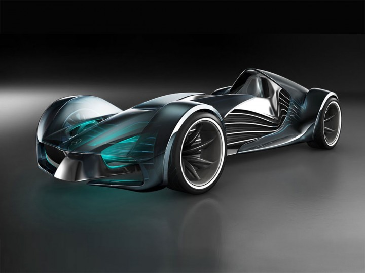 Touch Effect Concept: karting for the year 2030 - Car Body ... Year 2030 Cars