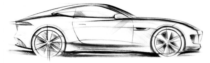 jaguar car drawing - photo #17