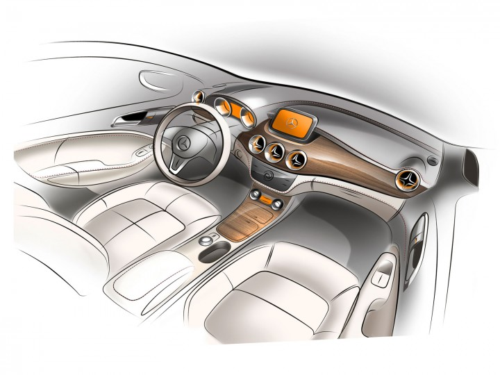 Mercedes benz b class interior design car body design - Car interior design ...