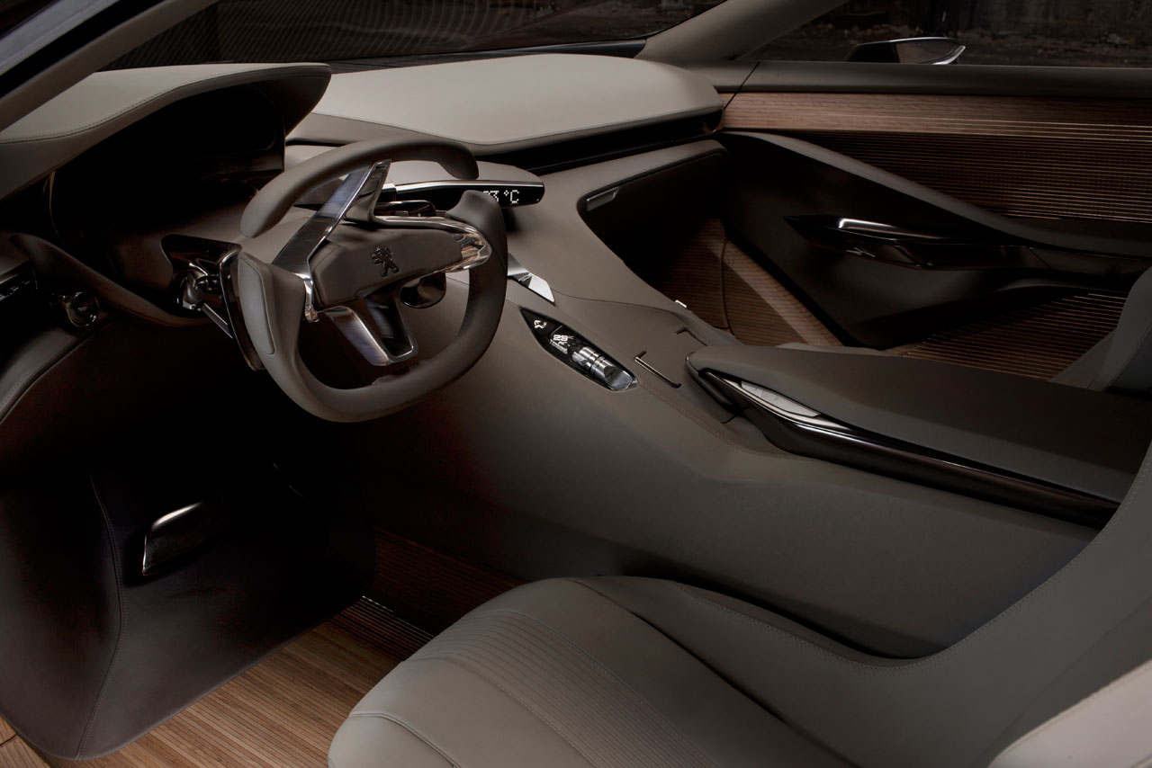 Peugeot hx1 concept interior car body design for Interieur voiture de luxe