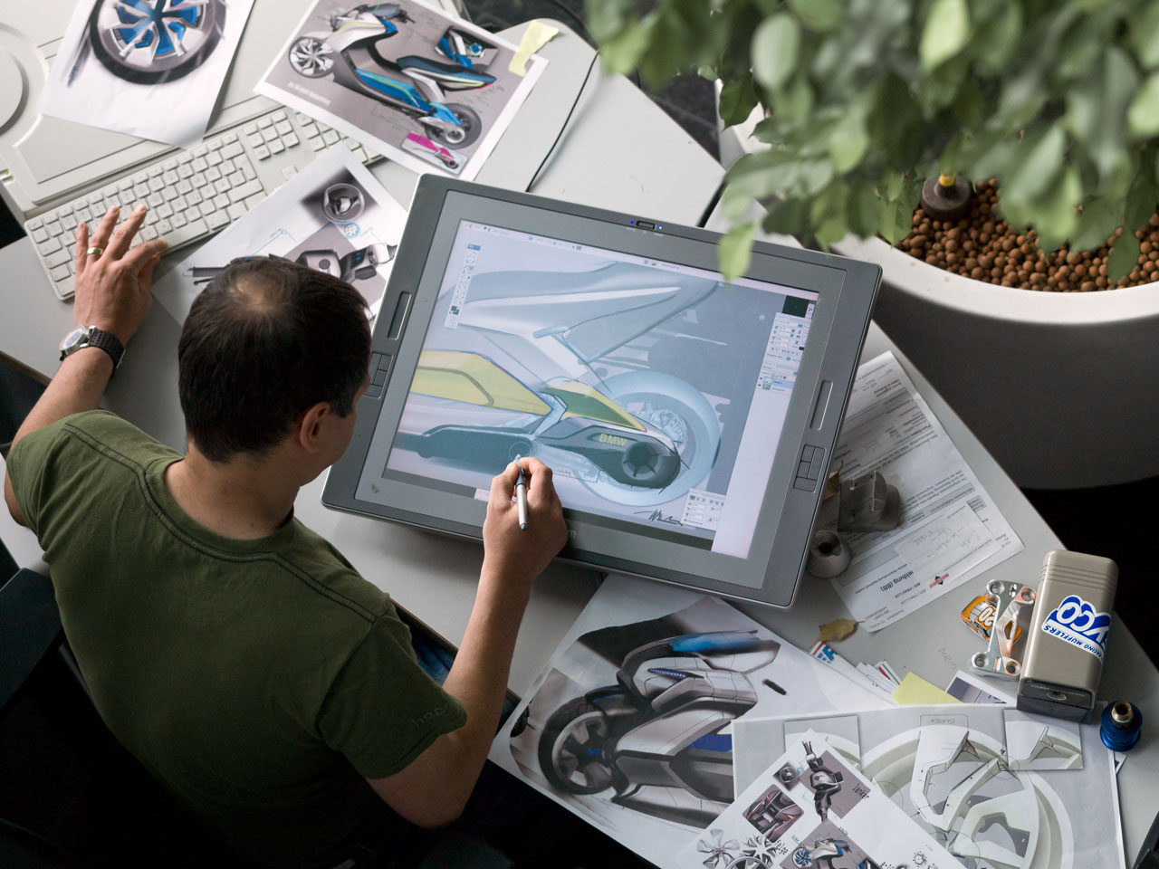 BMW Concept e Digital Design Sketch