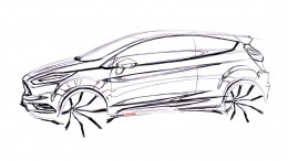 Ford Fiesta ST Concept Design Sketch