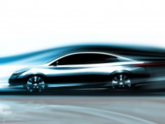 Infiniti electric sedan: new sketch
