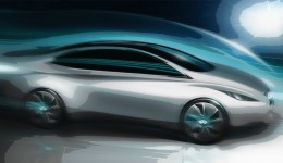 Infiniti Electric Sedan Concept Design Sketch