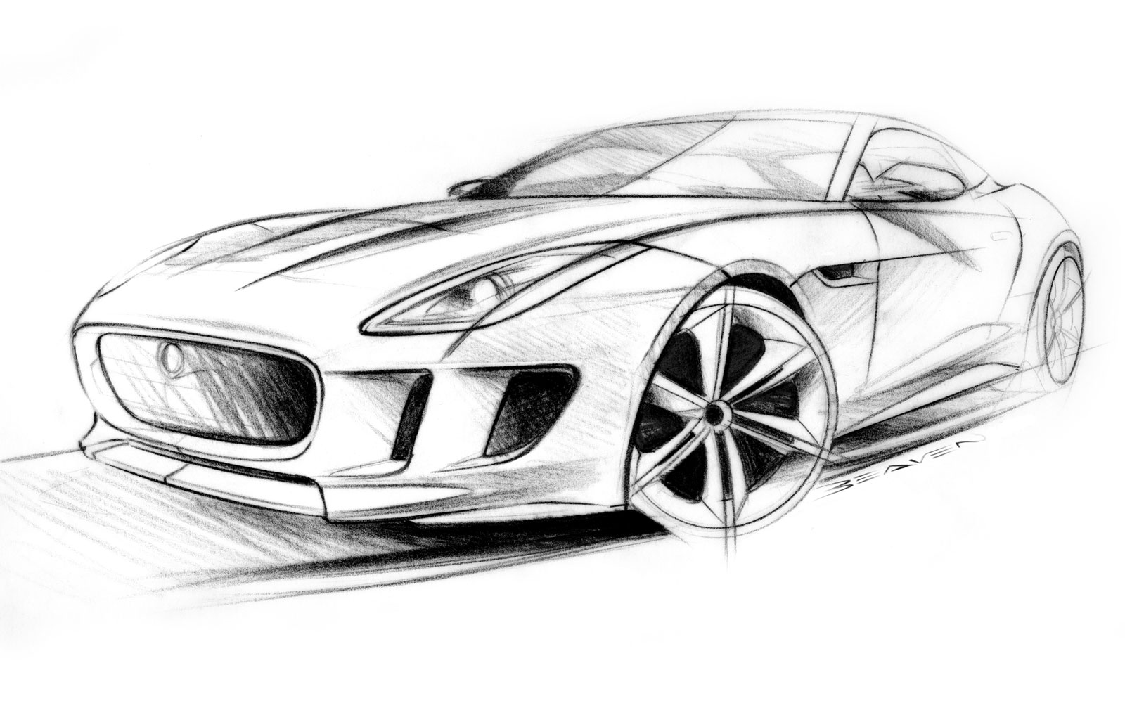 Jaguar C-X16 Concept Design Sketch