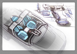 Land Rover DC 100 Sport Concept Interior Design Sketch