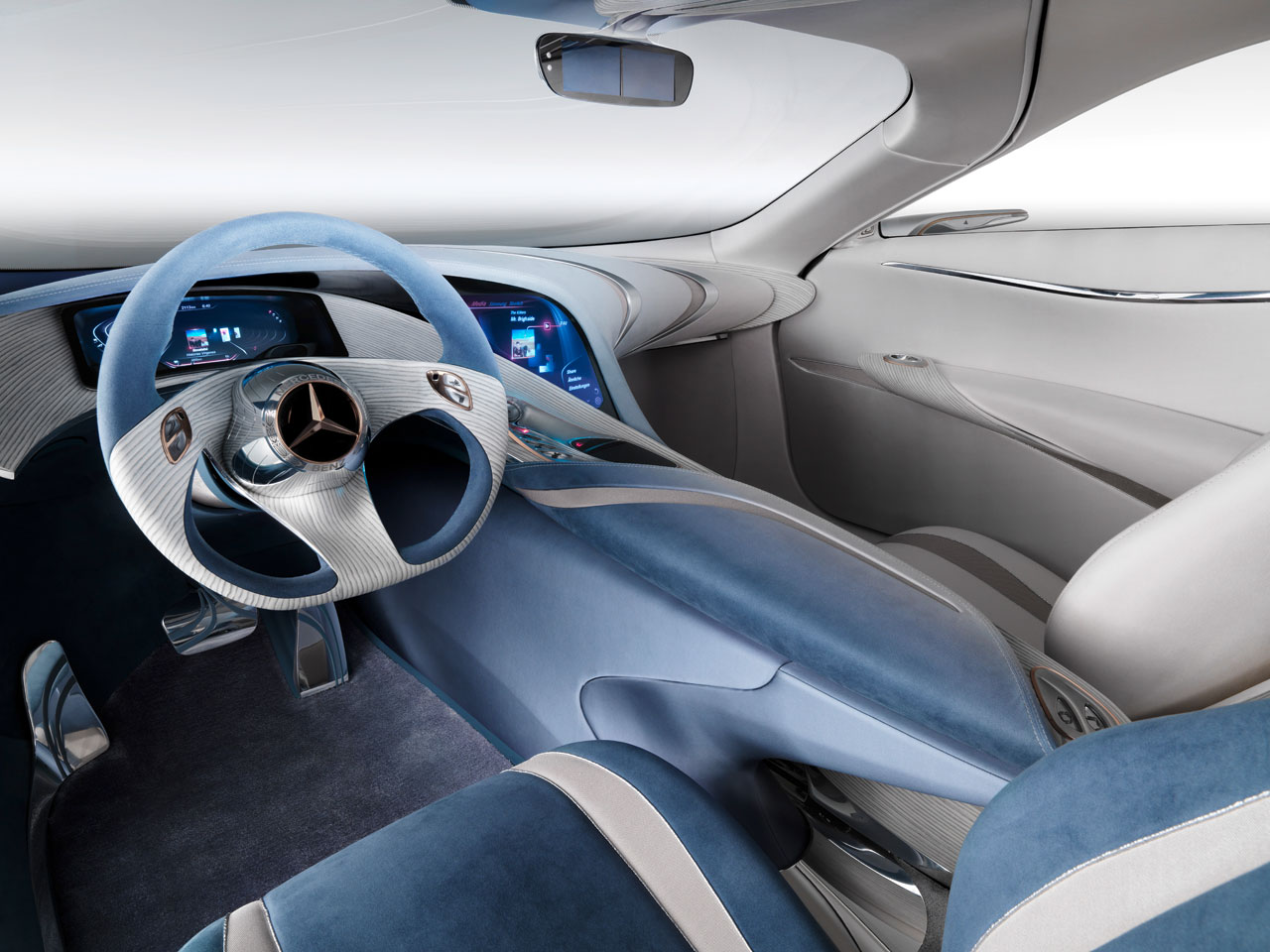 Mercedes benz f 125 concept car body design - Car interior design ...