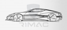 Rimac Concept One Design Sketch