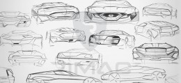 Rimac Concept One Design Sketches