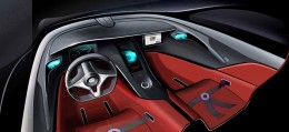 Rimac Concept One interior design sketch