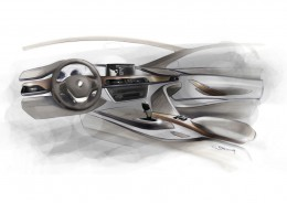 BMW 3 Series Interior Design Sketch