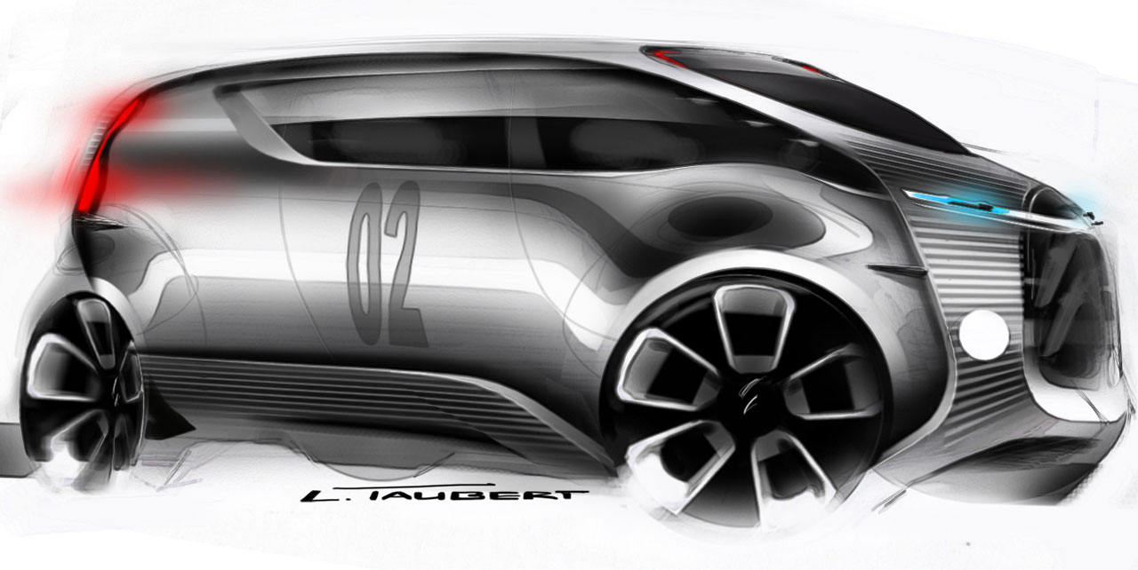 citroen tubik concept design sketch car body design. Black Bedroom Furniture Sets. Home Design Ideas