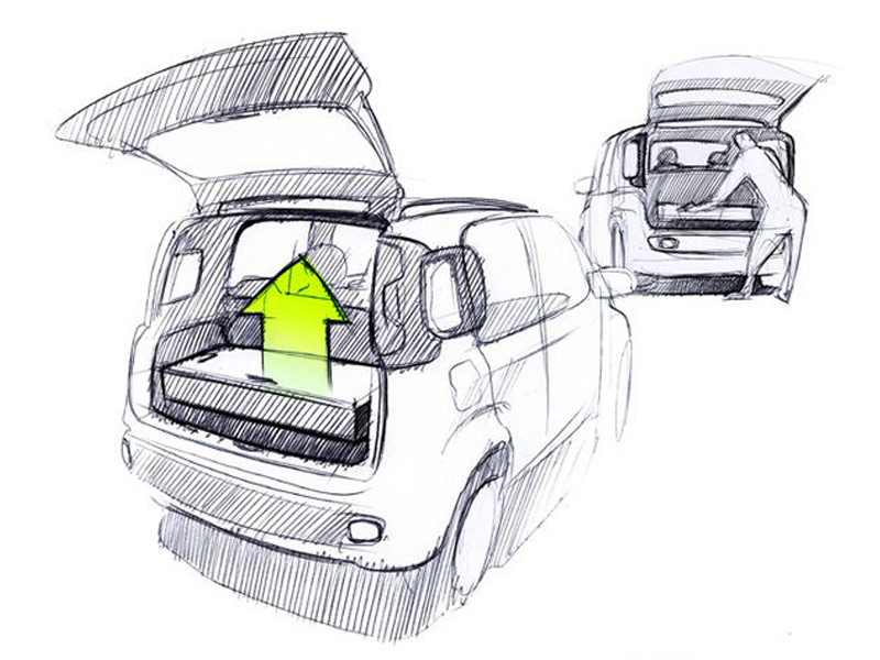 Fiat Panda Design Sketch Car Body Design