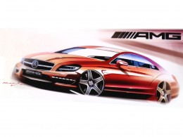 Mercedes-Benz CLS 63 AMG Design Sketch
